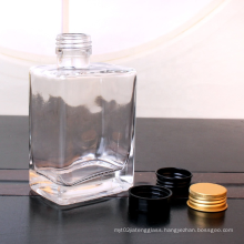 300ml Square beverage wine Glass Bottle with metal lid