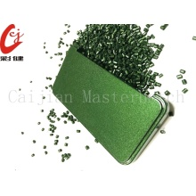 Free Spraying Green Masterbatch Granule