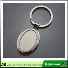 Porte-clés en métal blanc promotionnel de forme personnalisée