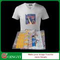 Qing yi personalizado plastisol etiqueta de transferência de calor para o pano