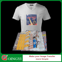 Qing yi custom plastisol heat transfer sticker for the cloth