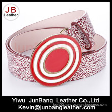 Fashion Ladies PU Belts with Turquoise Stones Buckle