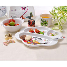 (BC-MK1017) Fashinable Design Reusable Melamine 4PCS Kids Cute Dinner Set