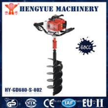 Taladro de taladro de tierra de gasolina de potencia con 68cc