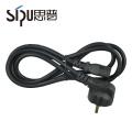 SIPU wholesale PVC jacket waterproof power cable eu ac plug