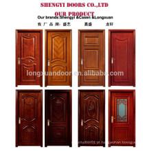 Flush design porta de madeira composta