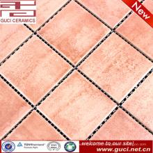 china fornecimento rústico laranja piscina mosaico de cerâmica