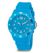 Relógio de silicone ecológico a cores impermeável
