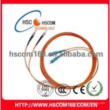 LC-SC dúplex fibra óptica patch cord