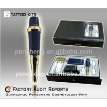 High quality Permanent Makeup tattoo machine/pen-blue with the professional Tattoo Kits supply