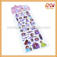 Adesivos personalizados para crianças mais populares da princesa, adesivos adesivos personalizados