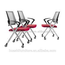 Х2-03SHL черный штабелировать стулья с колесами