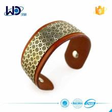 Модный аксессуар кожаный браслет