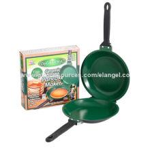Orgreenic flip jack ceramic non-stick pan, a revolutionary pancake maker, food safe