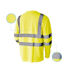 Hi Vis T Shirt ANSI Class 3 Lime Long Sleeve Reflective Safety Shirt