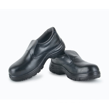 Good quality leather upper black steel toe china brand safety shoes
