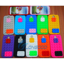 Building Blocks Silicone Soft Cover Case for Samsung Galaxy S4 I9500
