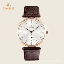 Высокое Качество Мужчины Часы Простой Дизайн Кожаный Ремешок Бизнес 72266