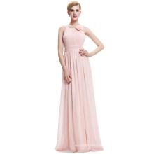Starzz Sleeveless Chiffon Long Simple Pink Bridesmaid Dress ST000075-1