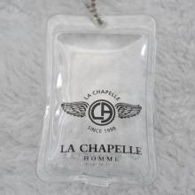 Etiquetas de plumas de plumas de PVC para la etiqueta de prendas de vestir Down
