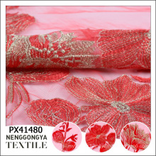 China custom High quality polyester embroidery embroidered lace
