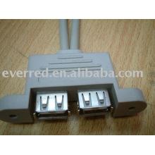 Cabo de porta dupla USB2.0 AF