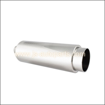 SS MUFFLER W STRAIGHT TIP INLET 2 OUTLET4 LENGTH 19