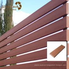 Cerca composta plástica de madeira de Mahogony WPC