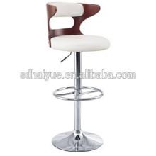 кожаный поворотный металлический барный стул / поворотный круглый табурет красоты дизайн современный