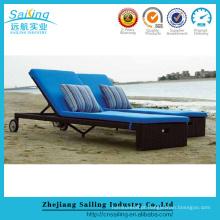 Outdoor Sun Lounge Day Bed Poolside Lounge Bancada de cadeira
