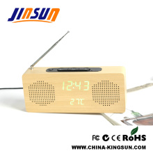 FM Radio with LED Alarm Clock