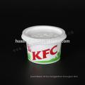 Food Grade KFC 130ml/4oz disposable PP plastic smashed potato cup