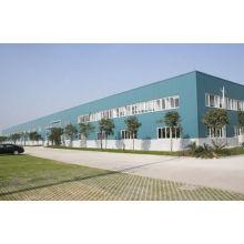 Toit long d'envergure d'atelier industriel en acier léger galvanisé