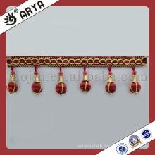 Perles en bois Tassel Fringe pour Sofa Rideau Accessoire Home Textile