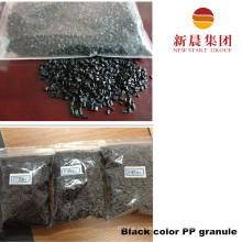 Черный цвет переработанной гранулы ПП