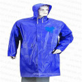Adult PVC Long Raincoat with Hood