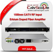 Professional Supplier High Performance 1550nm CATV RF Input EDFA Erbium Doped Fiber Amplifier