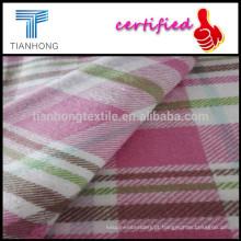T-shirt de flanela Y/D tecido/21S * peso pesado 12S verifica tecido de flanela de algodão Scraf tecido/barato
