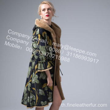 Mink Reversible Mink Lady Coat ในฤดูหนาว