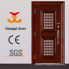 Steel safety exterior door with opening window