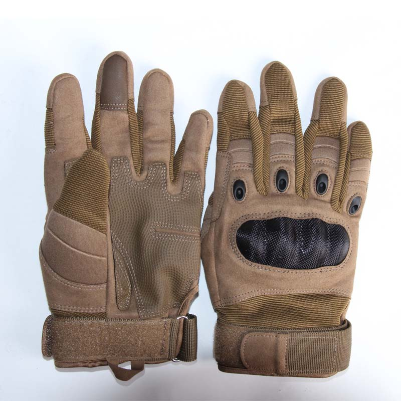 Brown gloves