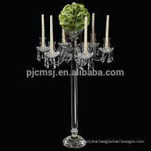 Hot sale best quality crystal candle holder for party decoration