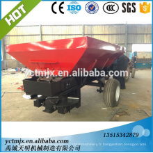 Trailed fertilizer spreader with farm tractor/granular fertilizer spreading machine/manure spreader