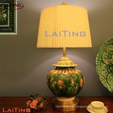 Lámparas de mesa de cerámica lámparas de noche verdes para habitaciones