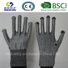 Cut Resistant Safety Work Glove with PVC Coated