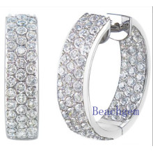 Synthetic Diamond CZ Sterling Silver Earrings for Women (E8913)