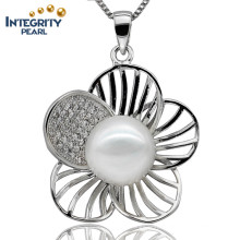 9-10mm AAA Flower Shape Button Pearl Cheap Fashion Freshwater Pearl Pendant