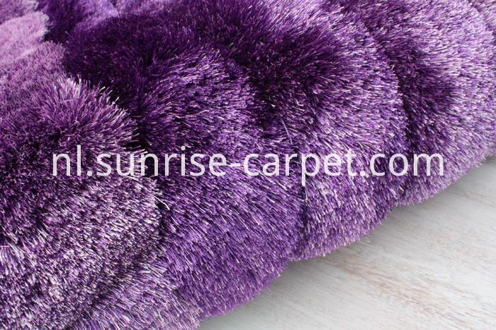 Polyester 3D Rug in Purple Color