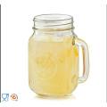 Venta al por mayor transparente Mason Jar para la botella de leche de vidrio de la bebida con la cubierta