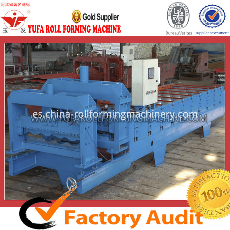 828 metal sheet glazed tile making machine